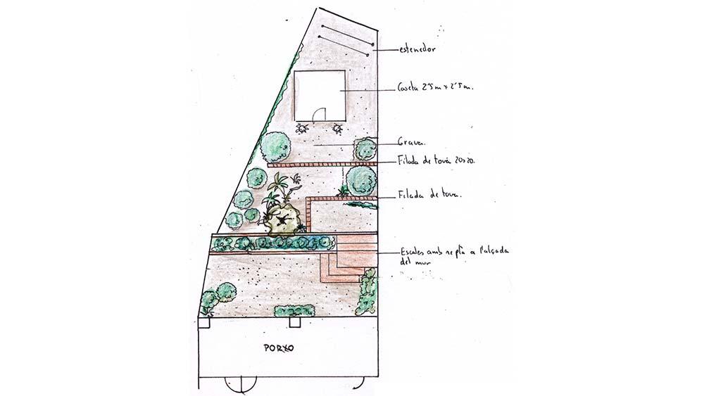 Disseny del jardi als apartaments de S'agaró